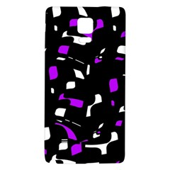 Purple, black and white pattern Galaxy Note 4 Back Case