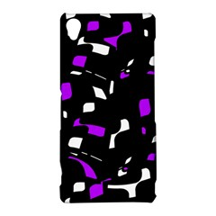 Purple, black and white pattern Sony Xperia Z3