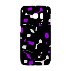 Purple, black and white pattern Galaxy S6 Edge