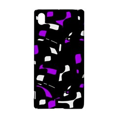Purple, black and white pattern Sony Xperia Z3+