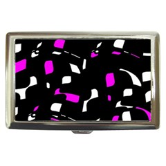 Magenta, black and white pattern Cigarette Money Cases
