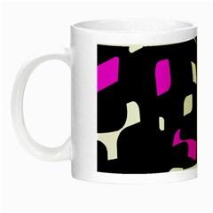 Magenta, black and white pattern Night Luminous Mugs