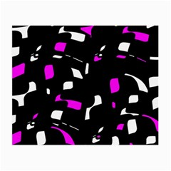 Magenta, black and white pattern Small Glasses Cloth (2-Side)