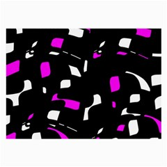 Magenta, black and white pattern Large Glasses Cloth