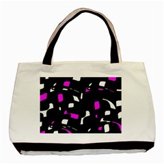 Magenta, black and white pattern Basic Tote Bag (Two Sides)