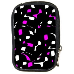 Magenta, black and white pattern Compact Camera Cases