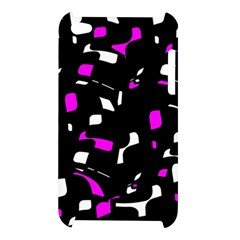 Magenta, black and white pattern Apple iPod Touch 4