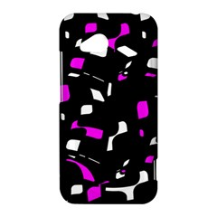 Magenta, black and white pattern HTC Droid Incredible 4G LTE Hardshell Case