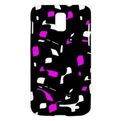 Magenta, black and white pattern Samsung Galaxy S II Skyrocket Hardshell Case