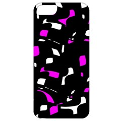 Magenta, black and white pattern Apple iPhone 5 Classic Hardshell Case