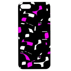 Magenta, black and white pattern Apple iPhone 5 Hardshell Case with Stand