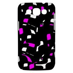 Magenta, black and white pattern Samsung Galaxy Win I8550 Hardshell Case