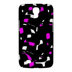 Magenta, black and white pattern Samsung Galaxy Mega 6.3  I9200 Hardshell Case