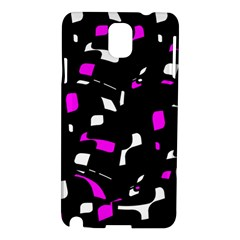 Magenta, black and white pattern Samsung Galaxy Note 3 N9005 Hardshell Case