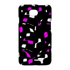 Magenta, black and white pattern LG Optimus L70