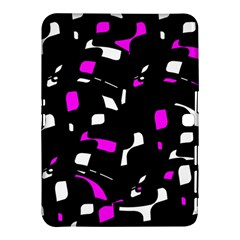 Magenta, black and white pattern Samsung Galaxy Tab 4 (10.1 ) Hardshell Case