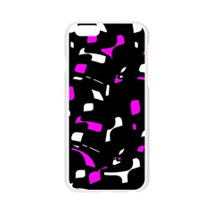 Magenta, black and white pattern Apple Seamless iPhone 6/6S Case (Transparent)
