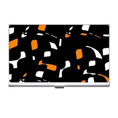 Orange, black and white pattern Business Card Holders