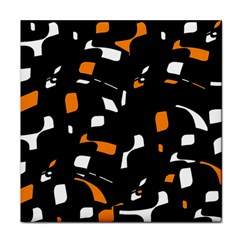 Orange, black and white pattern Face Towel