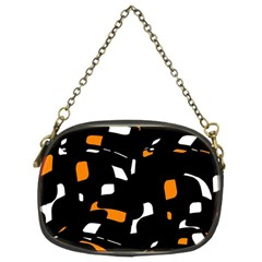 Orange, black and white pattern Chain Purses (Two Sides)