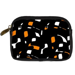 Orange, black and white pattern Digital Camera Cases