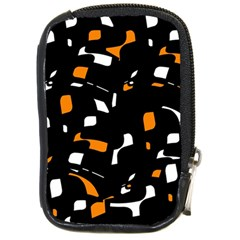 Orange, black and white pattern Compact Camera Cases