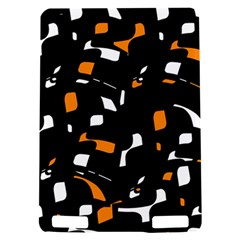 Orange, black and white pattern Kindle Touch 3G