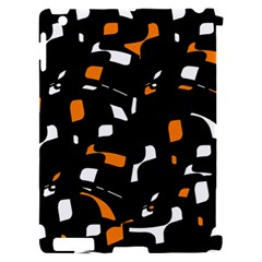 Orange, black and white pattern Apple iPad 2 Hardshell Case (Compatible with Smart Cover)