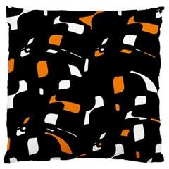 Orange, black and white pattern Large Cushion Case (One Side)