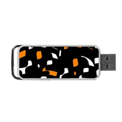 Orange, black and white pattern Portable USB Flash (Two Sides)