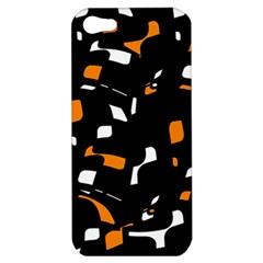 Orange, black and white pattern Apple iPhone 5 Hardshell Case