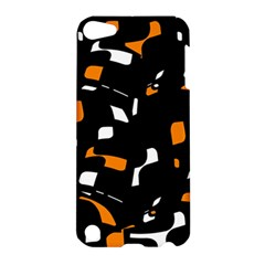 Orange, black and white pattern Apple iPod Touch 5 Hardshell Case