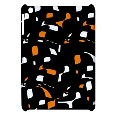 Orange, black and white pattern Apple iPad Mini Hardshell Case