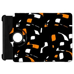 Orange, black and white pattern Kindle Fire HD Flip 360 Case