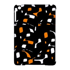 Orange, black and white pattern Apple iPad Mini Hardshell Case (Compatible with Smart Cover)