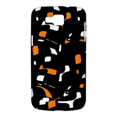 Orange, black and white pattern Samsung Galaxy Premier I9260 Hardshell Case