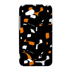 Orange, black and white pattern HTC Desire VC (T328D) Hardshell Case