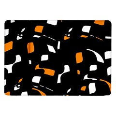Orange, black and white pattern Samsung Galaxy Tab 10.1  P7500 Flip Case