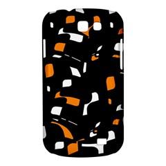 Orange, black and white pattern Samsung Galaxy Express I8730 Hardshell Case