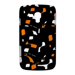Orange, black and white pattern Samsung Galaxy Duos I8262 Hardshell Case