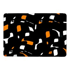 Orange, black and white pattern Samsung Galaxy Tab Pro 10.1  Flip Case