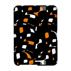 Orange, black and white pattern Amazon Kindle Fire (2012) Hardshell Case