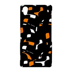 Orange, black and white pattern Sony Xperia Z2