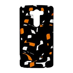Orange, black and white pattern LG G3 Hardshell Case