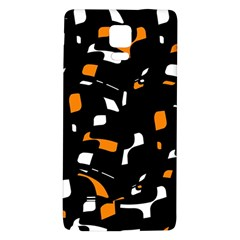 Orange, black and white pattern Galaxy Note 4 Back Case