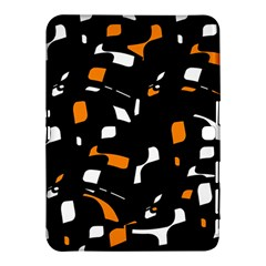 Orange, black and white pattern Samsung Galaxy Tab 4 (10.1 ) Hardshell Case
