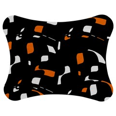 Orange, black and white pattern Jigsaw Puzzle Photo Stand (Bow)