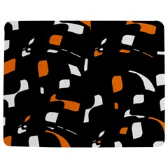 Orange, black and white pattern Jigsaw Puzzle Photo Stand (Rectangular)