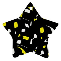 Yellow, black and white pattern Ornament (Star)
