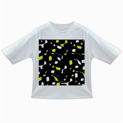 Yellow, black and white pattern Infant/Toddler T-Shirts